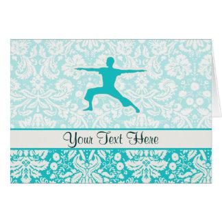 Carte Yoga turquoise