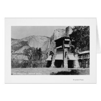 Carte Yosemite, CA - la loge et la vallée d'Ahwahnee