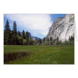 Carte Yosemite dans le printemps :  Vue de pré
