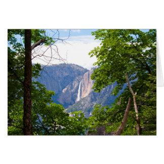 Carte Yosemite Falls supérieur avec le feuille (blanc à