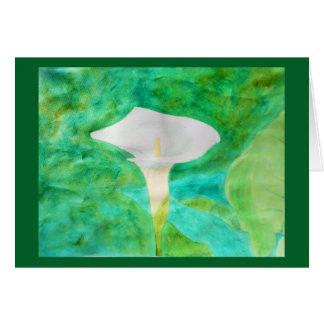 Carte Zantedeschia d'aquarelle