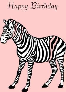 Carte Anniversaire Zebre.Invitations Faire Part Cartes Anniversaire Zebre Zazzle Be
