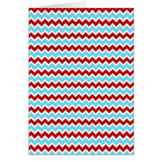 Carte Zigzags rouges de Chevron de turquoise turquoise à