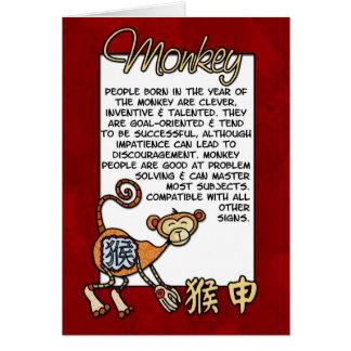 Carte Zodiaque chinois - singe