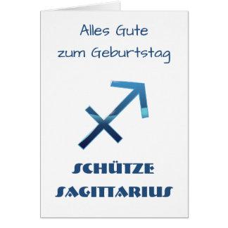 Carte Zodiaque Geburtstag de Sagittaire de Blau Schütze