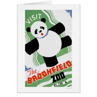 Carte Zoo de Brookfield de panda WPA 1938