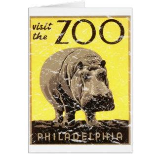 Carte Zoo-Hippopotame de Philadelphie