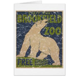 Carte Zoo-Polaire de Brookfield Ours-affligé