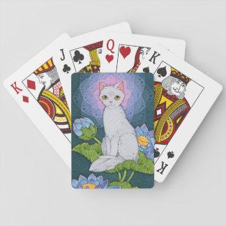 Cartes À Jouer Affirmation d'Oracle de chats d'imaginaire -