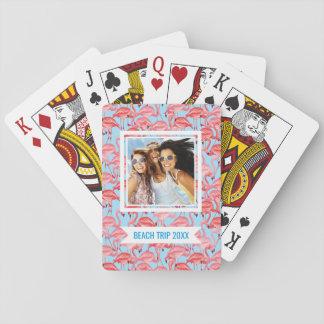 Cartes À Jouer Ajoutez vos flamants roses | lumineux nommés sur