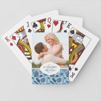 Cartes À Jouer Ajoutez vos nuances | nautiques nommées de motif