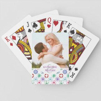 Cartes À Jouer Ajoutez votre motif nautique | coloré nommé