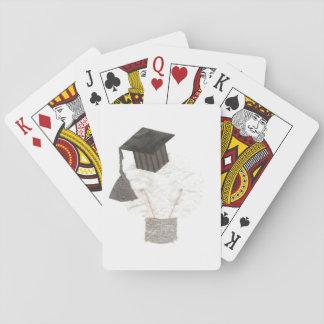 Cartes À Jouer Ampoule de diplômé aucunes cartes de jeu d'arrière