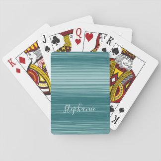 Cartes À Jouer Art abstrait avec le nom moderne de manuscrit
