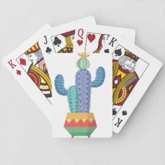 Cartes À Jouer art de conception de fleur de plante de cactus