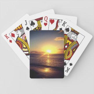 Cartes À Jouer Beau coucher du soleil