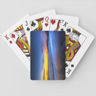 Cartes À Jouer Belles cartes de jeu de coucher du soleil, index