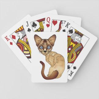 Cartes À Jouer Cartes de chat siamois
