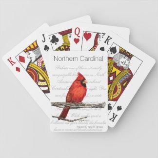 Cartes À Jouer Cartes de jeu cardinales du nord d'oiseau d'art de