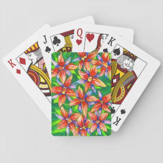 Cartes À Jouer Cartes de jeu classiques avec la conception de lis