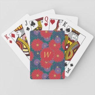 Cartes À Jouer Cartes de jeu classiques florales d'automne