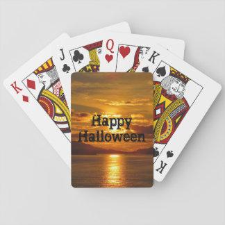 Cartes À Jouer Cartes de jeu d'Alaska de coucher du soleil
