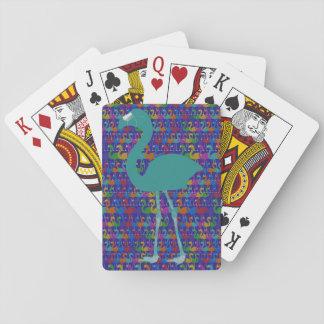 Cartes À Jouer Cartes de jeu de flamant (Teal/pourpre)