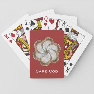 Cartes À Jouer Cartes de jeu de fleur d'huître - rouge de la
