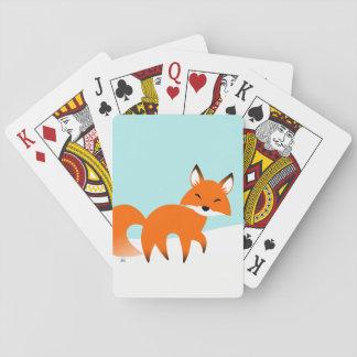 Cartes À Jouer Cartes de jeu de Fox rouge