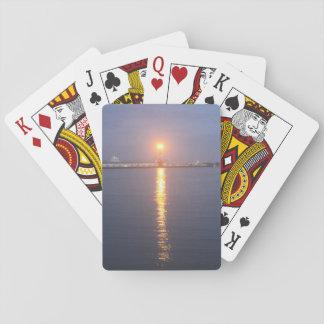 Cartes À Jouer Cartes de jeu de lever de soleil du fleuve