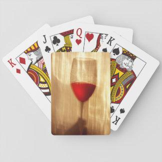 Cartes À Jouer Cartes de jeu de vin, visages standard d'index