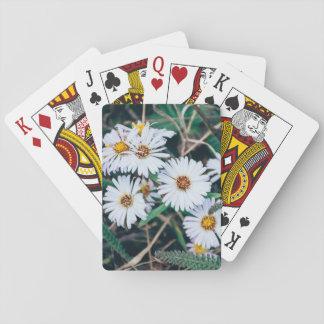 Cartes À Jouer Cartes de jeu des marguerites de bord de la mer |