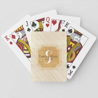 Cartes À Jouer Cartes de jeu faites sur commande de mariage de