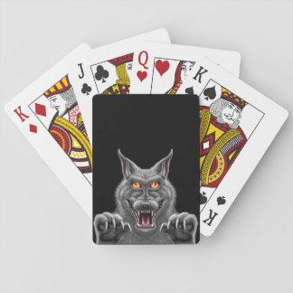 Cartes À Jouer Cartes de jeu féroces de loup-garou