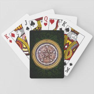 Cartes À Jouer Cartes de jeu gothiques de pentagramme de porte -