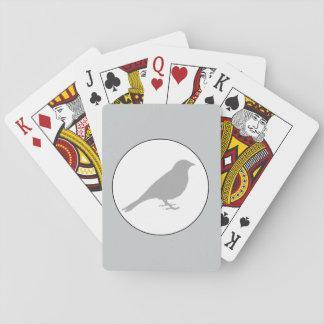 Cartes À Jouer Cartes de jeu grises d'oiseau gris