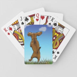 Cartes À Jouer Cartes de jeu heureuses de teckel