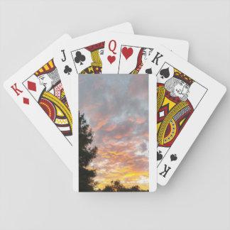 Cartes À Jouer Cartes de jeu nuageuses de coucher du soleil