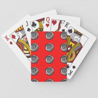"""Cartes À Jouer Cartes de jeu rouges de roses """"de folie de point"""