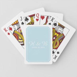 Cartes À Jouer Cartes de jeu simplement élégantes de bleu