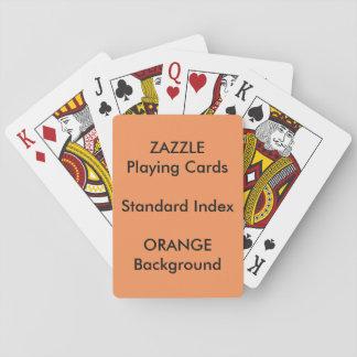 Cartes À Jouer Cartes de jeu STANDARD faites sur commande ORANGES