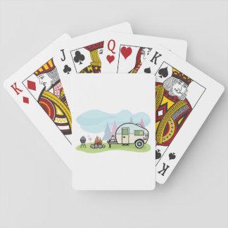 Cartes À Jouer Cartes de jeu vintages de campeur de style