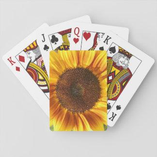 Cartes À Jouer Cartes jaunes, oranges, et de Brown de tournesol