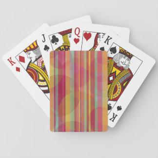 Cartes À Jouer Cercles et rayures colorés