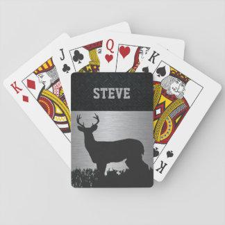 Cartes À Jouer Cerfs communs faits sur commande chassant les