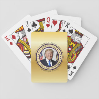 CARTES À JOUER COMMANDANT EN CHEF D'OR DE DONALD TRUMP