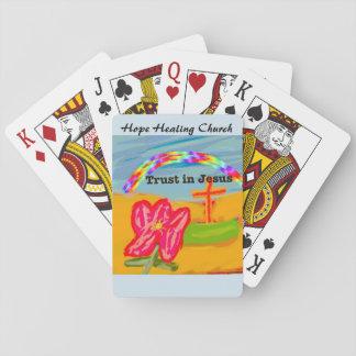 Cartes À Jouer Confiance curative d'église d'espoir en cartes de