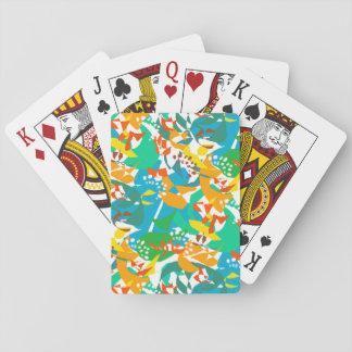 Cartes À Jouer Cool coloré d'abrégé sur automne d'automne de