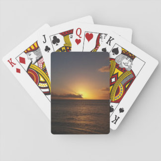 Cartes À Jouer Coucher du soleil au-dessus des cartes de jeu