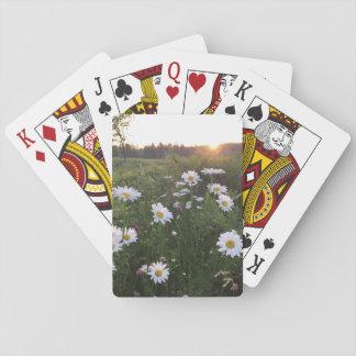 Cartes À Jouer Coucher du soleil au-dessus des cartes de jeu de